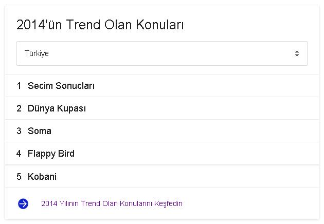 2014'ün Trend Olan Konuları
